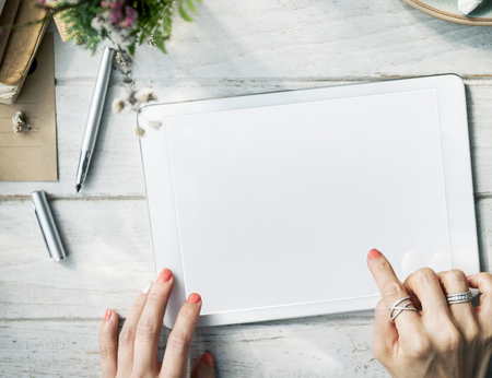 copyspace: Mockup Copyspace Computer Tablet Concept