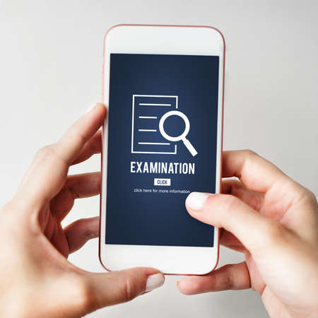investigacion: Examination Results Discovery Investigation Concept