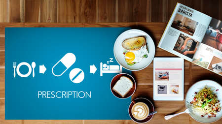 sleeping tablets: Prescription Medical Health Wellbeing Proper Care Concept