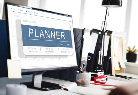 Agenda Appointment Plan Program Timetable Concept Imagens