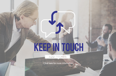 Keep in touch concept Imagens