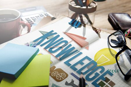 Knowledge School Course Degree Graphics Concept Stock Photo