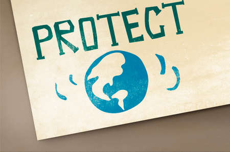 greenhouse effect: Protect Save Earth Nature Planet Concept Stock Photo