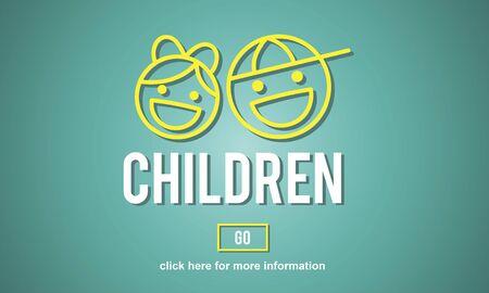 babyhood: Children Childhood Kids Offispring Website Concept