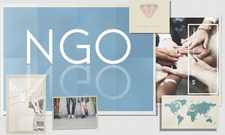 nonprofit: NGO Contribution Corporate Foundation Nonprofit Concept