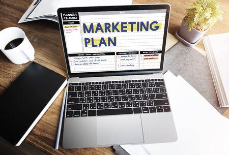 Estrategia Plan de Marketing Branding concepto de publicidad comercial