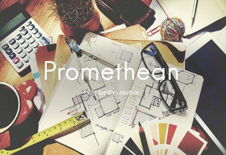 intelligent: Promethean Creative Ideas Wisdom Intelligent Concept Stock Photo
