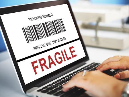 Fragile concept on a laptop