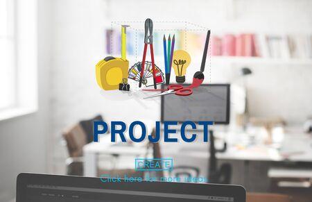Project Craft Creation Ideas Design Art Concept Stock Photo