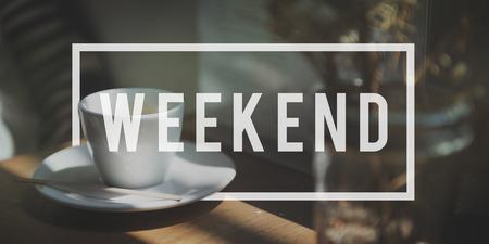 週末リラクゼーション自由時間幸せ自由な時間概念