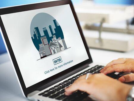 estate planning: Suburb Urban City Town Buildings Concept Stock Photo