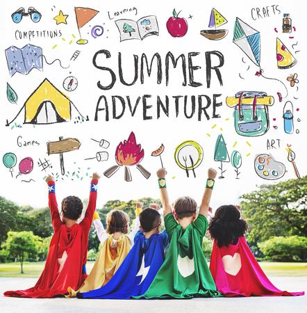 campamento: Kids Summer Camp Adventure Explora Concept