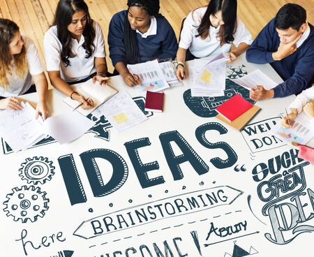 inspire: Ideas Inspire Creative Thinking Motivation Concept
