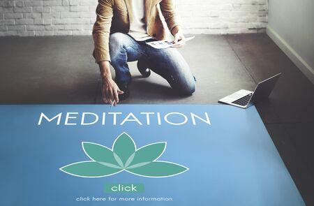 introspection: Meditation Healthcare Lotus Flower Graphic Concept