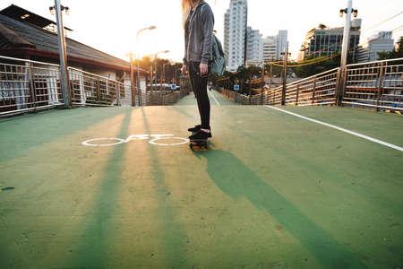 Skateboard Extreme Sport Skater Street Recreational Activity Concept