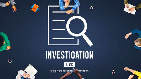 Investigation Results Analysis Discovery Concept Stock Photo
