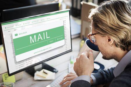 computer screen: E-mail Online Communication Message Technology Concept