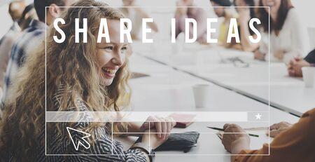participate: Share Experiences Share Ideas Participate Concept
