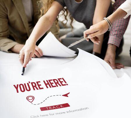 You Are Here Navigate Position Location Planning Concept Reklamní fotografie