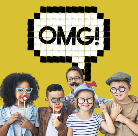 oh: Expression Words Emotion Communication Slang Concept Stock Photo