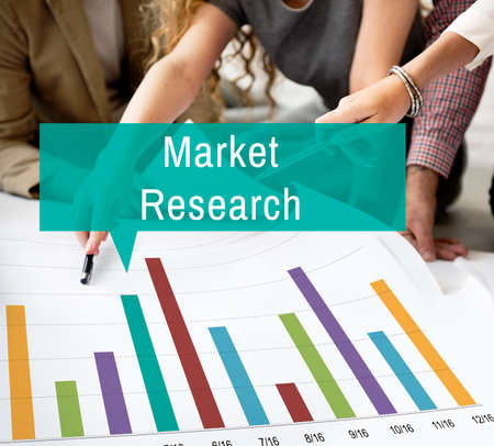 consumer: Market Research Analysis Consumer Marketing Strategy Concept Stock Photo
