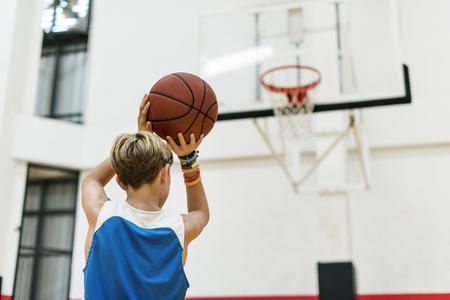 Trainer Athlet Basketball Bounce Sport-Konzept Standard-Bild - 61419073