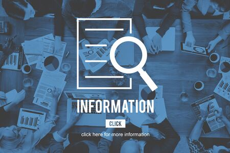 investigation: Information Research Investigation Discovery Concept Stock Photo