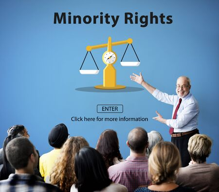 minority: Minority Rights Diversity Ethnicity Racial Respect Concept Stock Photo