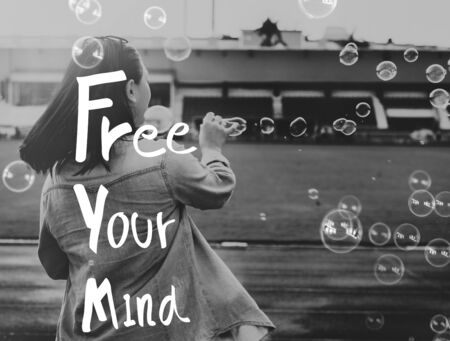 free your mind: Free Your Mind Positive Relaxation Chill Concept