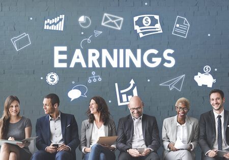 proceeds: Profit Earnings Income Financial Economy Proceeds Concept Stock Photo
