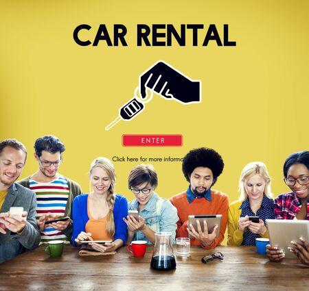 Car Rental Used Car Transportation Vehicle Concept Reklamní fotografie
