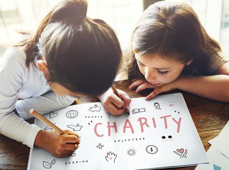 awareness: Charity Aid Donation Awareness Concept Stock Photo