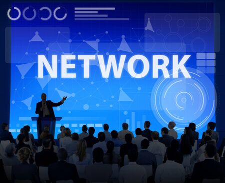 networked: Computer Network Internet Connection Digital Concept