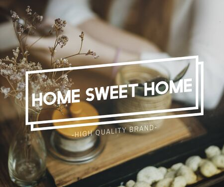 belonging: Home Sweet Home Residence Living House Belonging Concept Stock Photo
