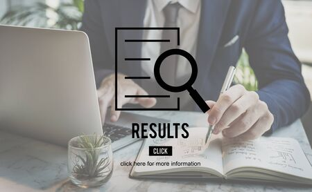 investigation: Results Research Investigation Discovery Concept Stock Photo