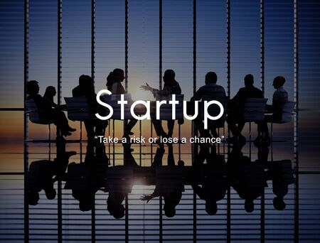 aspirations: Startup New Business Launch Aspirations Strategy Concept