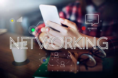 internet network: Connection Digital Devices Internet Sharing Concept