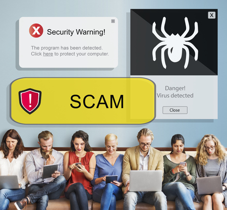 Scam concept with group of people