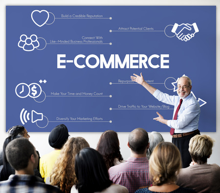 Presenter with ecommerce concept