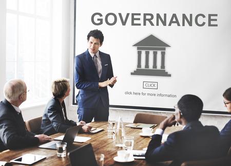 Pilier Gouvernement de l'Autorité Concept Graphic Banque d'images - 61422474