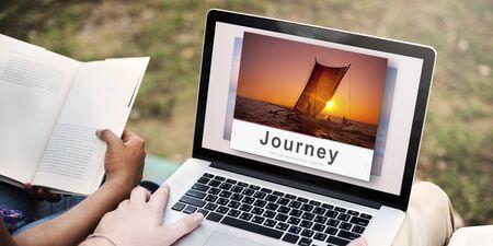 Journey Adventure Travel Explore Destination Concept Stock Photo