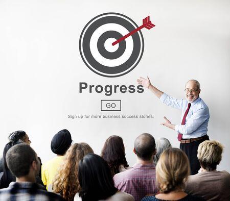 advancement: Progress Development Imrpovement Advancement Concept Stock Photo