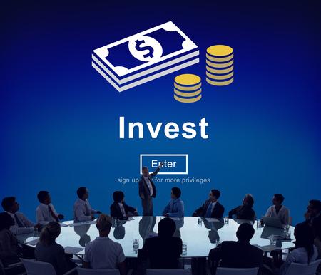 Invest Fund Banking Einsparungen Business-Konzept Standard-Bild - 61422817