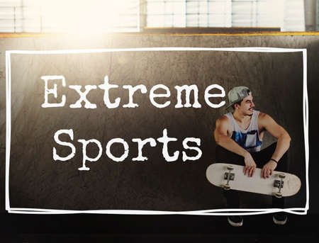 extreme sports: Extreme Sports Action Active Athlete Exercise Fit Concept Stock Photo