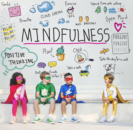 Relax Mindfulness Optimism Harmonie-Konzept Standard-Bild - 61444192