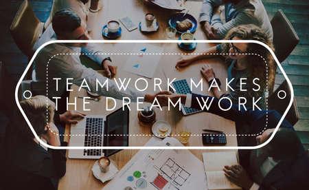 Teamwork Dreamwork Alliance Cooperation Unity Concept Stock Photo
