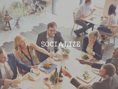 socialization: Socialize Community Network Society Unity Group Concept Stock Photo