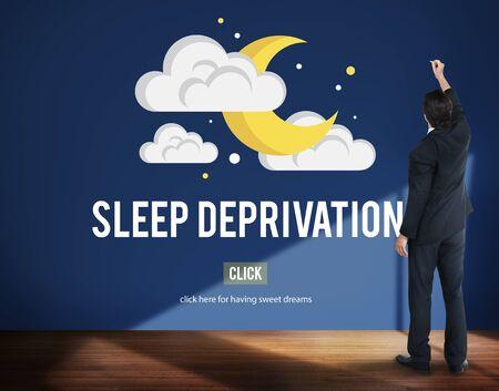 sleepless: Sleep Apnea Insomnia Sleep Deprivations Disorders Sleepless Concept Stock Photo
