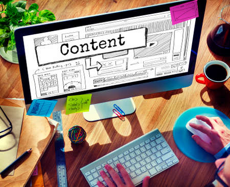 analyze: Content Blog Create Analyze Optimize Concept