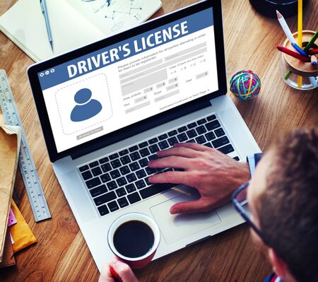 fill fill in: Drivers License Registeration Application Webpage Concept